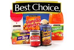 The Best Choice® brand products are priced lower than the leading national brands because they don't carry the advertising and promotional costs that the national brands have.
