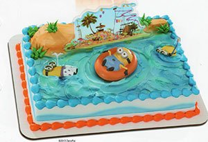 Specialty Cake Examples - Despicable Me Beach Party