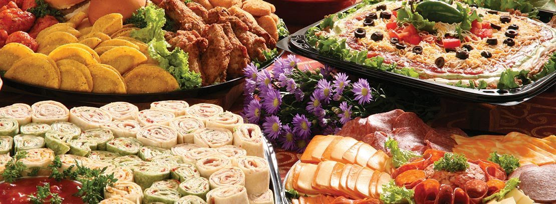 Assortment of party trays.