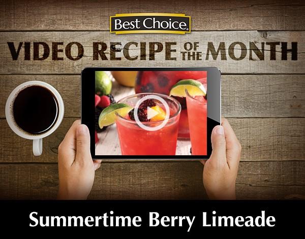 Best Choice Recipe Video: Summertime Berry Limeade >