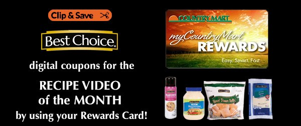 Save on ingredients when you clip digital coupons with your rewards card