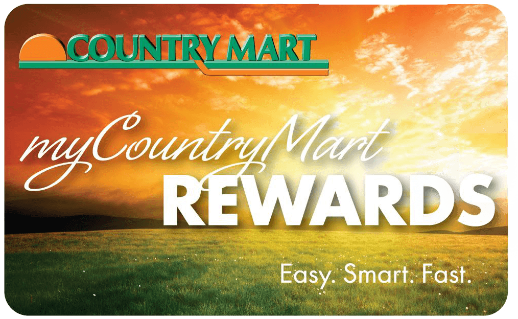 Image of Country Mart Rewards Card